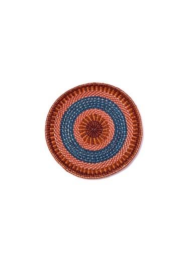 Kanca Ev Etnik Afrikan Duvar Tabağı, 60Cm. Renkli